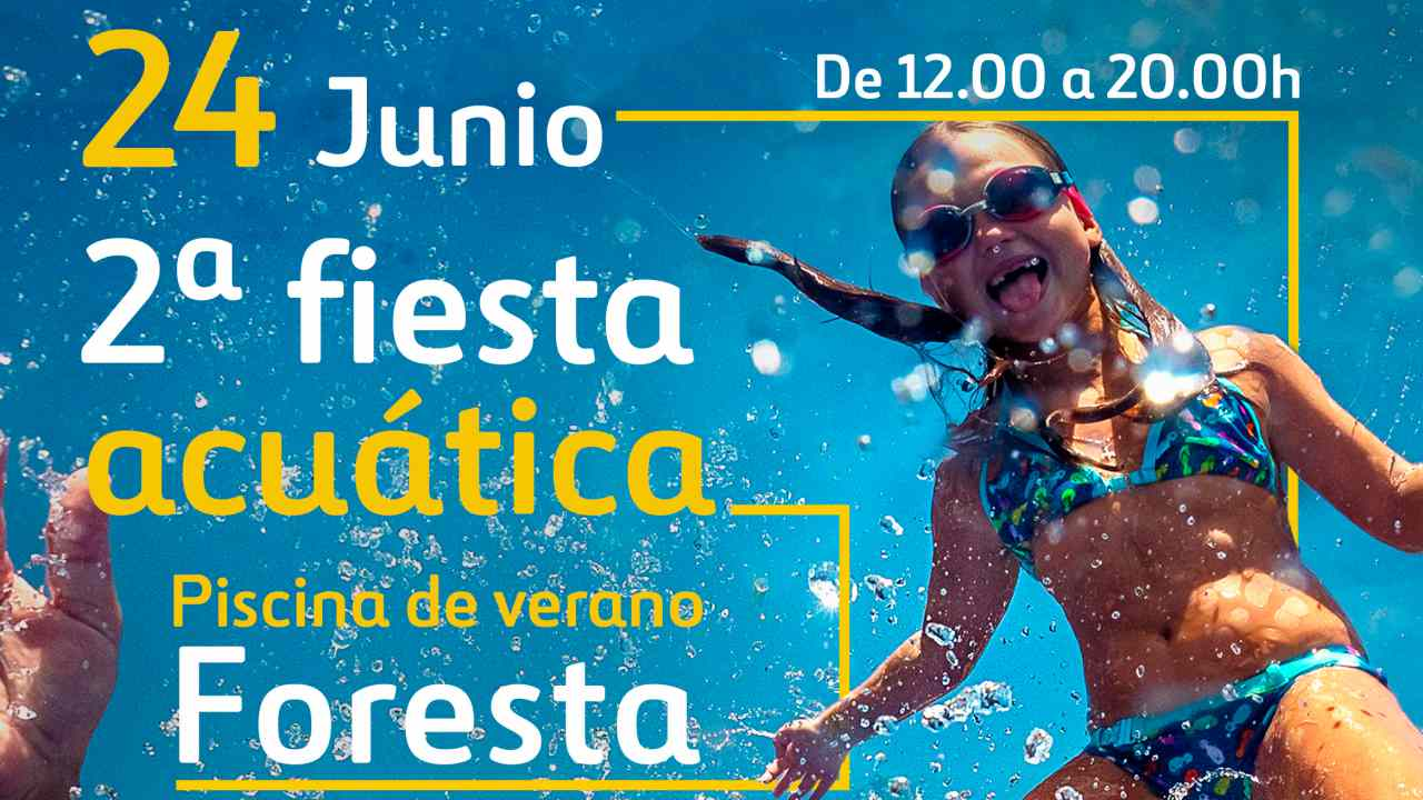 2 fiesta acu tica en la piscina municipal de foresta for Piscina foresta tres cantos