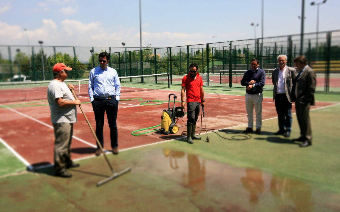 Comienzan las obras en las pistas de tenis de Tres Cantos