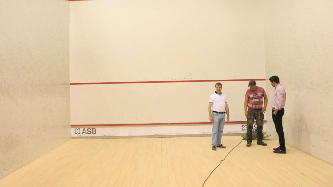 Rehabilitación de pistas de squash y tenis en Tres Cantos